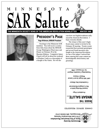 SAR Salute newsletter old cover