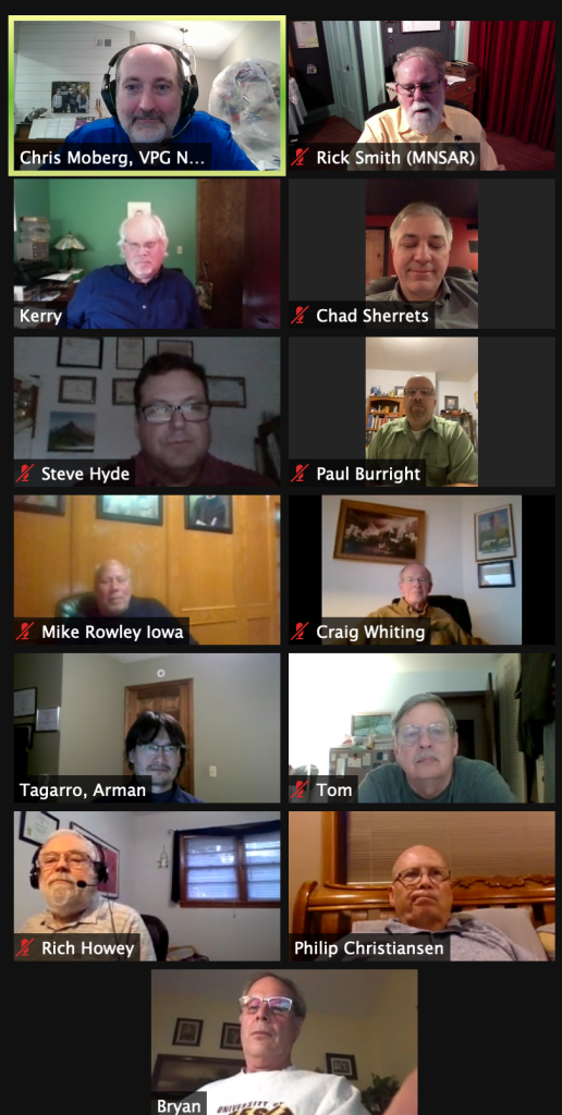 Informal state Zoom meeting in May