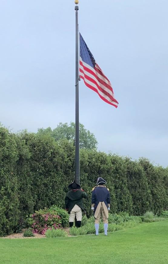 Flag raising, Memorial Day 2021