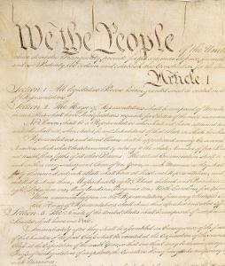 Excerpt of original US Constitution